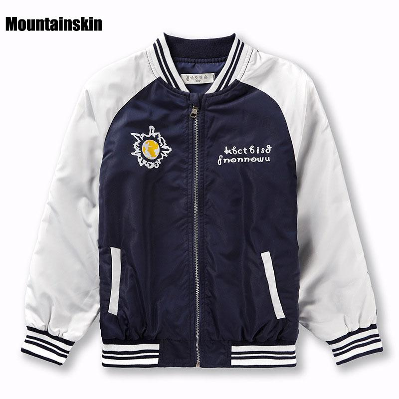 New Spring Coats For Boys Bomber Jackets Map Print Kids Sport ...