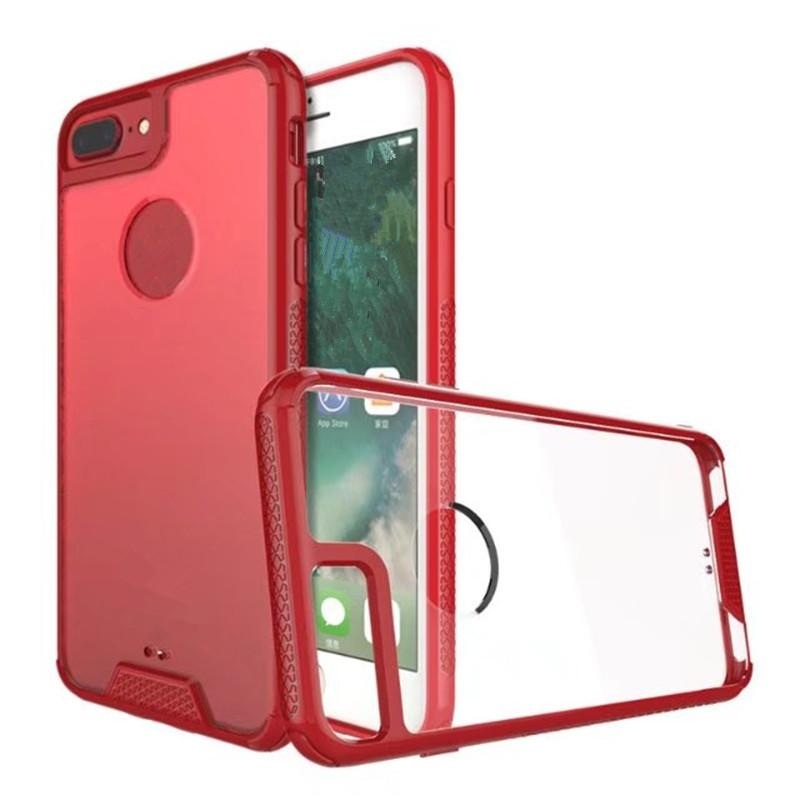Colorful Frame Case Cover Soft TPU Frame+Transperant PC Back Phone Shell For iphone 7plus 7 6splus 6s 6
