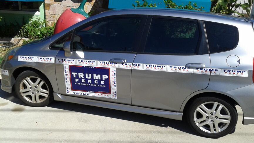 Calcomanías para parachoques Donald Trump para el presidente hace América grande otra Pegatina para el parachoques exterior de los accesorios 2 del color 76 * 229mm