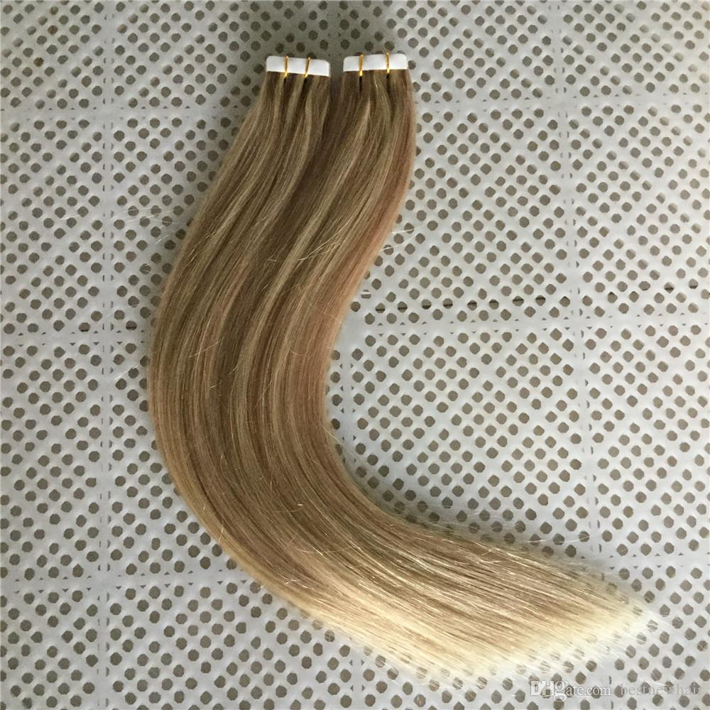 High Quality 100gpu Skin Weft Tape In Hair Extensions Piano Color