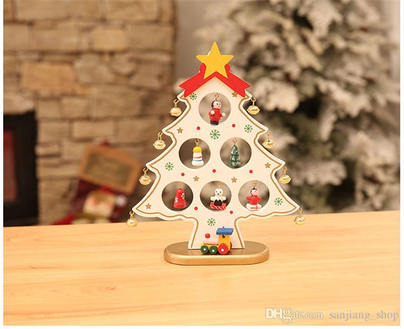Christmas Tree Wooden Tabletop Decorations Accessories Diy Handcrafted  Decorative Tree Decoration Christmas Party 2 2017 Oriental Decorations  Party Outdoor ...