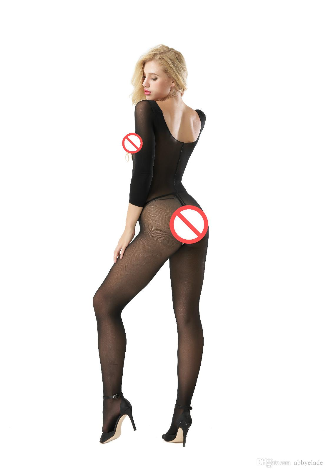 Neue Sexy Körper Transparent Strumpfhosen Sexy UniSex Öffnen Büste Durchsichtig Körper Strümpfe Crotchless Bodystcoking Sexy Pjs