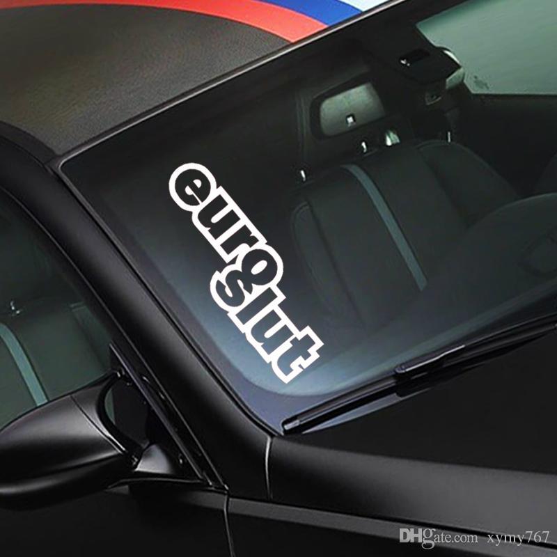 2017 heißer Verkauf Persönlichkeit Auto Vinyl Aufkleber Aufkleber Jdm Euro Schlampe Auto Stying Reflektierende Aufkleber Auto Stying Jdm