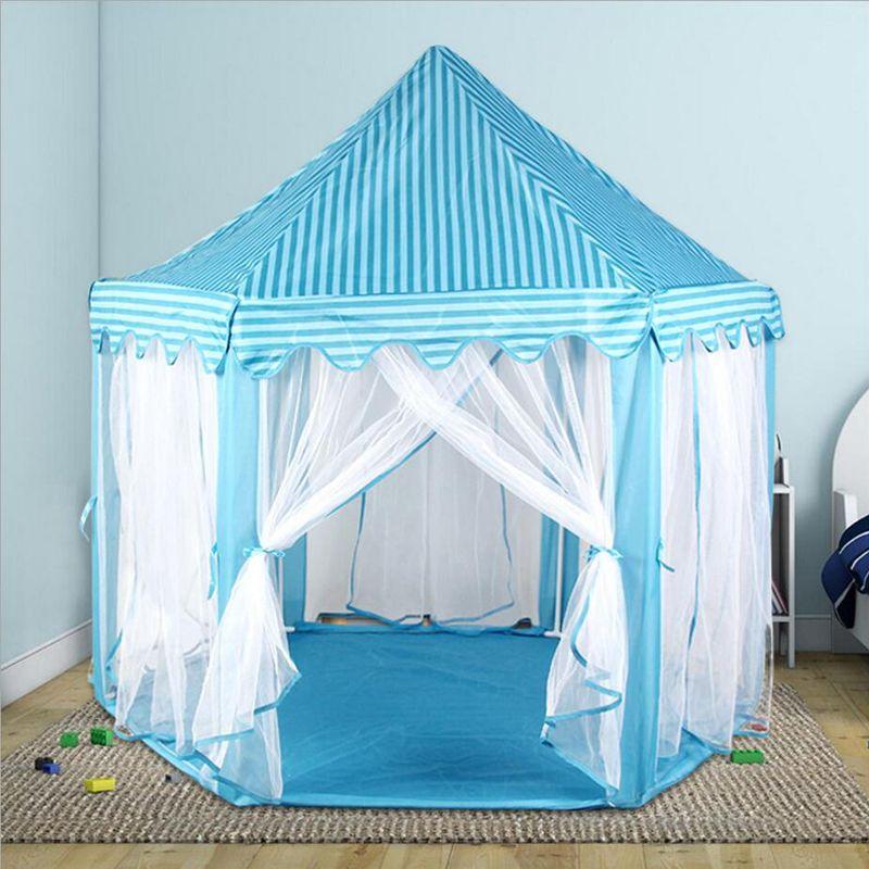 2017 new Children chiffon hexagonal tent decoration game house princess game castle tents custom
