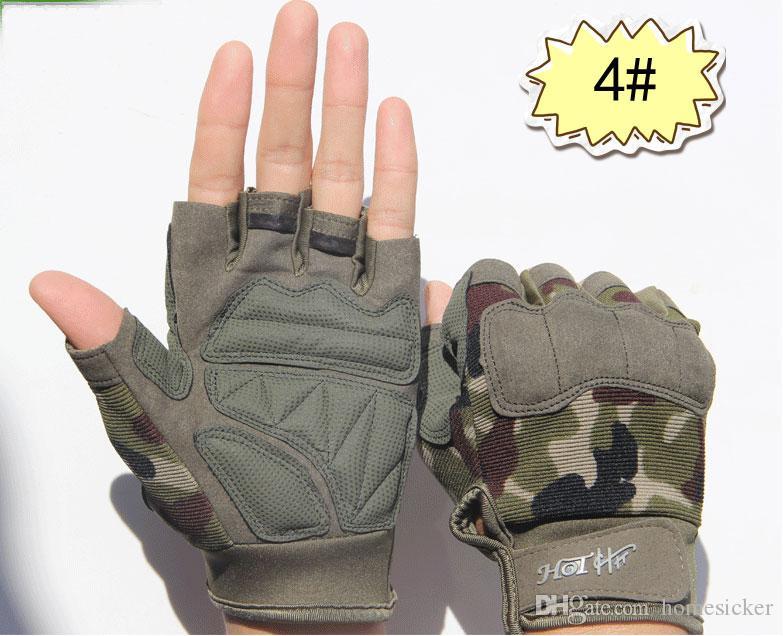 Gants tactiques numériques version améliorée hommes / femmes sport extérieur antidérapant chaud gants d'équipement de cyclisme combat tactique sans doigts