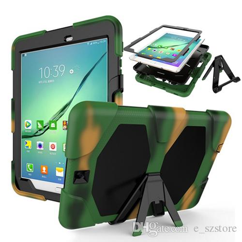 For Samsung Galaxy Tab S2 9.7 T810 T815 Tablet Case Cover Durable  Silicone+PC Hybrid Rugged Shockproof Water Repellent Case Case For 10 Inch  Tablet Bags And ... dc5aef0f504d