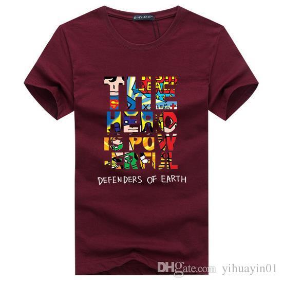 브랜드 2017 새로운 티셔츠 남자 면화 짧은 소매 패션 여름 인쇄 캐주얼 o- 넥 남자 티셔츠