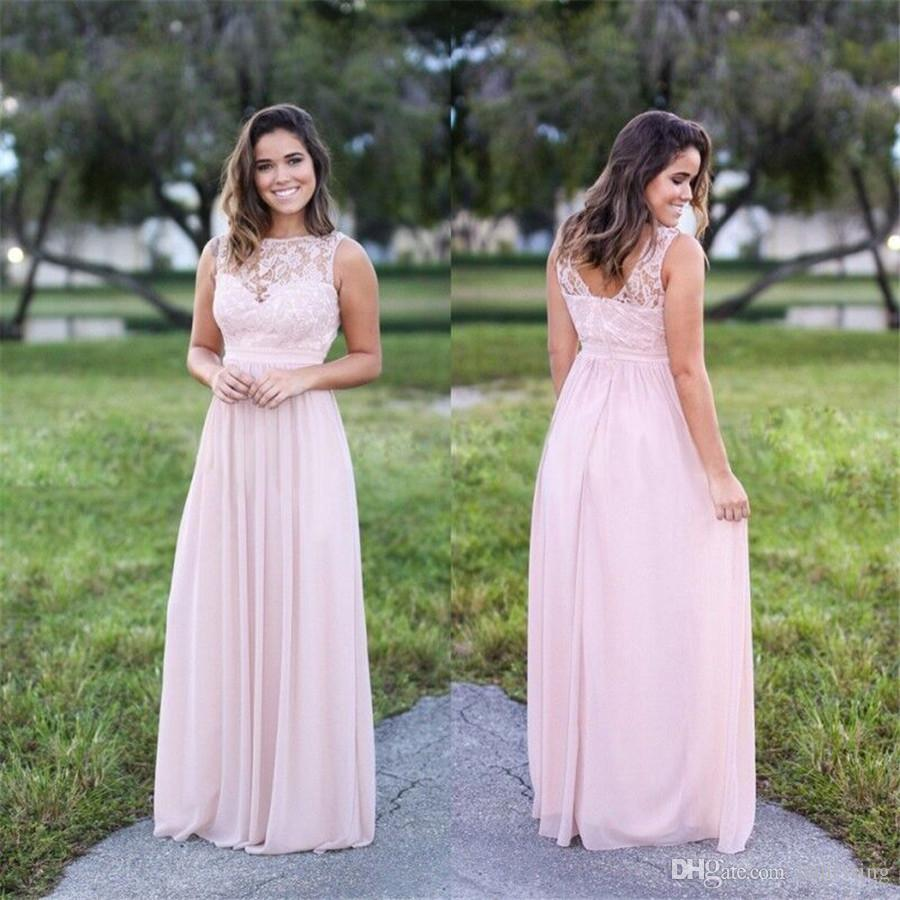 Hot selling long bridesmaid dresses light pink lace open back hot selling long bridesmaid dresses light pink lace open back floor length chiffon formal gown brides guest wear cheap prom dress peach bridesmaid dresses ombrellifo Gallery