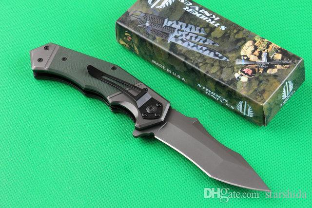 Strider MICK 352 Stonewashed Tactical Klappmesser 440C 57HRC G10 Griff Camping Jagd Überleben Taschenmesser Military EDC Werkzeuge
