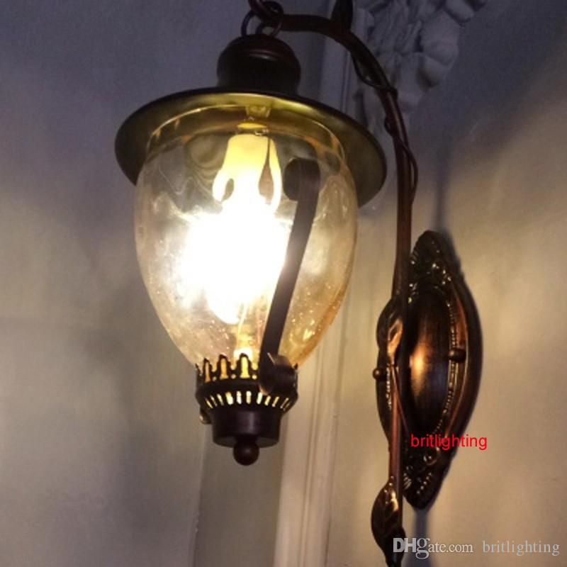 Metal Wall Sconce 2017 corner lamp metal wall sconce antique bedside lamps dimmable
