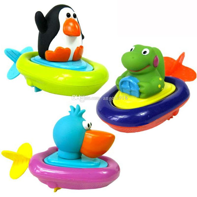 Bebek Banyo Oyuncak çocuklar wind up su karikatür penguen ördek dinozor Hayvanlar Yüzme oyuncaklar çocuklar için C2417