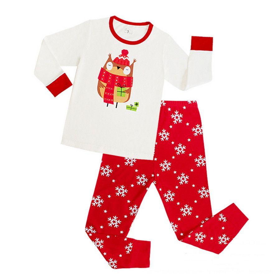 Snowflake Cute Cartoon Baby Boys Girls Pijama Children Christmas ...