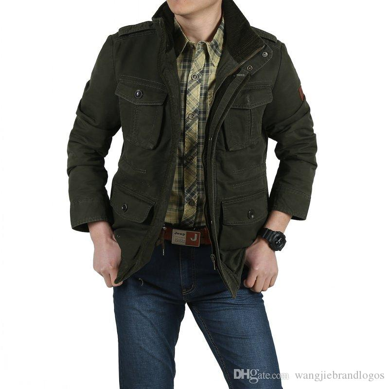 2017 Afs Jeep New Winter Bomber Jackets Men Army Outerwear ...