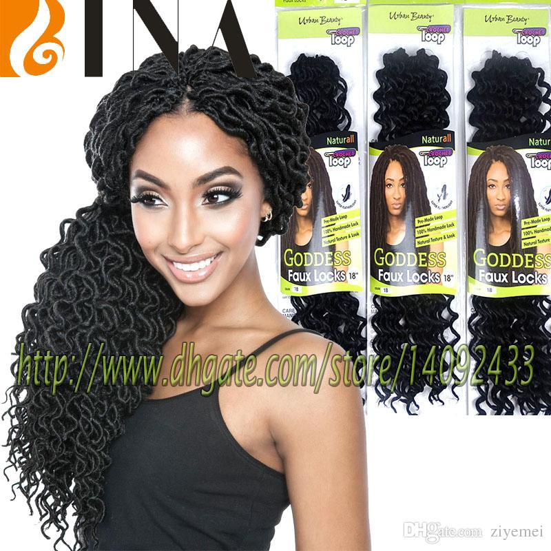 Dreadlock Crochet Hair Extensions 18inches Kanekalon Curly Faux Locs