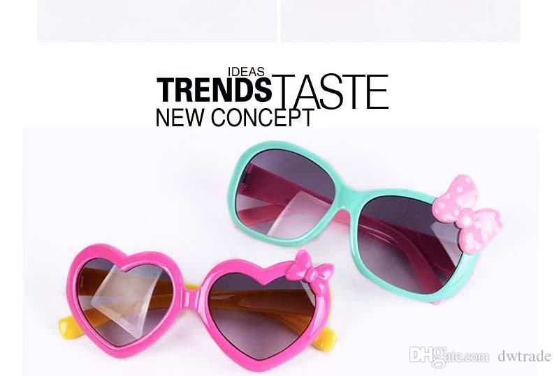 Sonnenbrille für Kleinkinder Kinder Kunststoff Cartoon Liebe Kinder Sonnenbrille Mädchen Baby Shades Goggles Eyewear Kostenloser versand