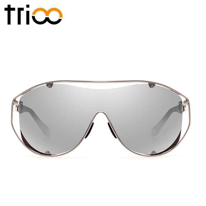 07f876ec245 Wholesale TRIOO Conception Design Mens Sunglasses Oversized Big Frame Male  Oculos Goggle Style Sun Glasses Man Gold Frame Shades Heart Shaped  Sunglasses ...
