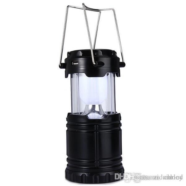 6 LEDs Slantern Lamp Solar Camping Lantern Light for Outdoor ...