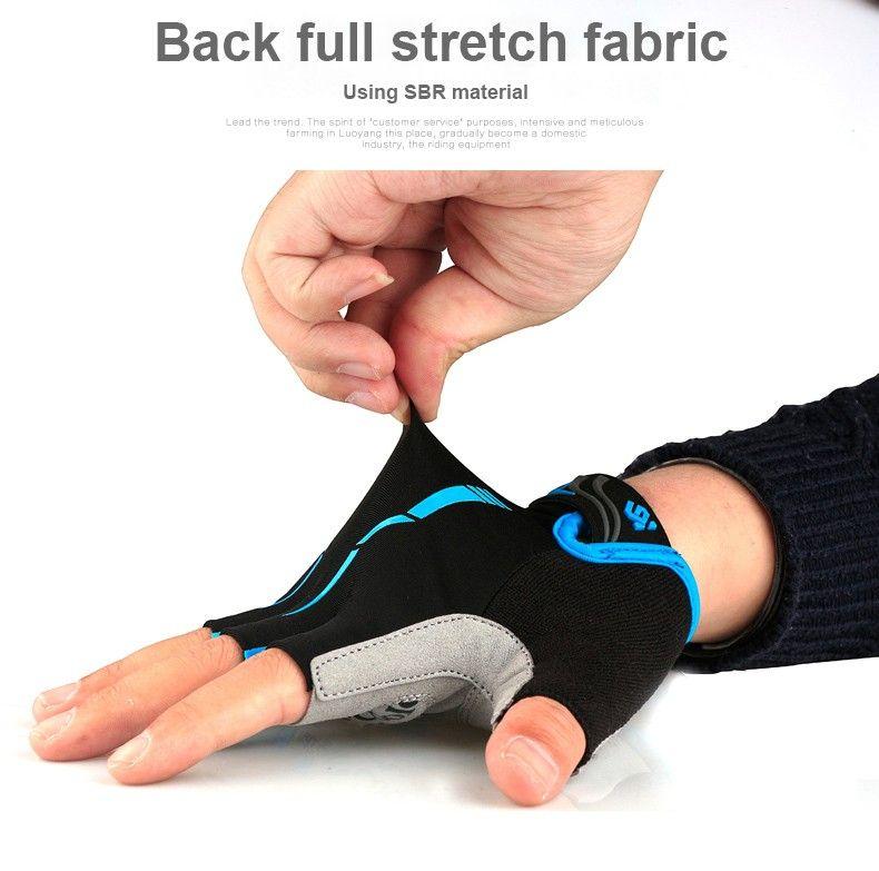 Анти-шок гель лето MTB половина палец Велоспорт перчатки мужские дышащий открытый профессиональный дорожные перчатки Горный нейлон велосипед перчатки