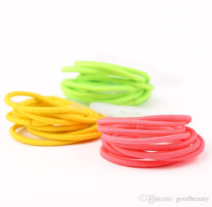 Bebek Kız Çocuklar Tiny Saç Aksesuarları Saç Bantları Elastik Kravatlar At Kuyruğu Tutucu 20 renkler ücretsiz kargo