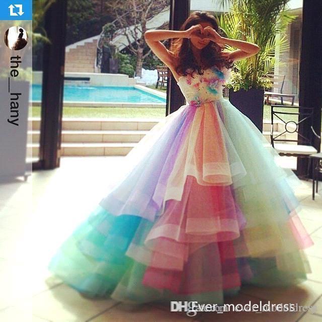 rainbow wedding dress | Wedding