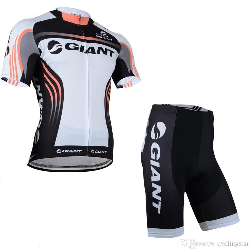 TOUR DE FRANCE 2017 GIGANTE-Alpecin EQUIPO manga corta pro Cycling Jersey camisa de la bicicleta / Bike BIB Shorts hombres ropa ciclismo D2101