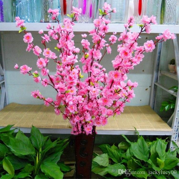 2018 Peach Blossom Simulation Artificial Plants Flower Floral Art ...