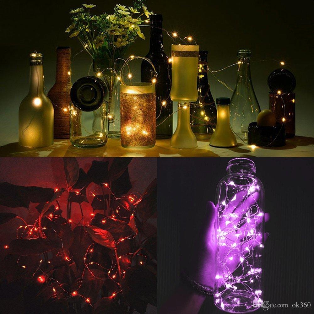 Fairy String Lights Battery Operated 7.2ft2.2M 20 Leds Firefly Micro String Lights Copper Wire For Wedding Centerpiece Thanksgiving