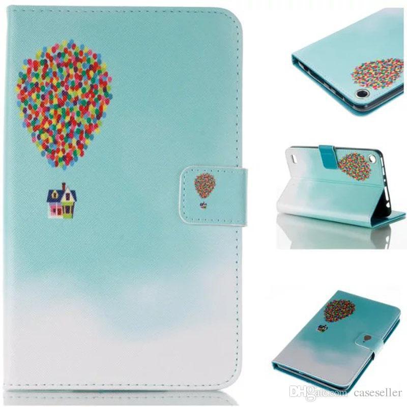 PU impressão Estojo De Couro torre borboleta sinos aeolian balão Estande Capa para Kindle Fire 7 2015