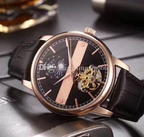 802d4ebf0 Compre Novo Anúncio Relógios De Luxo De Luxo De Alta Qualidade Movimento  Mecânico Automático Para Cima E Para Baixo Com Design De Estrelas Relógios  De Luxo ...