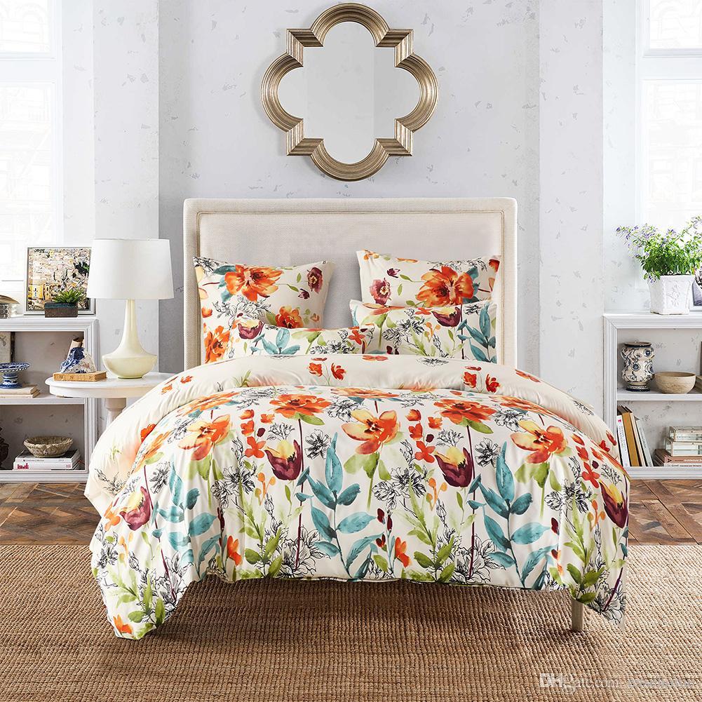 2017 new bedding set dovet set in printed tropical flower for New duvet covers 2017