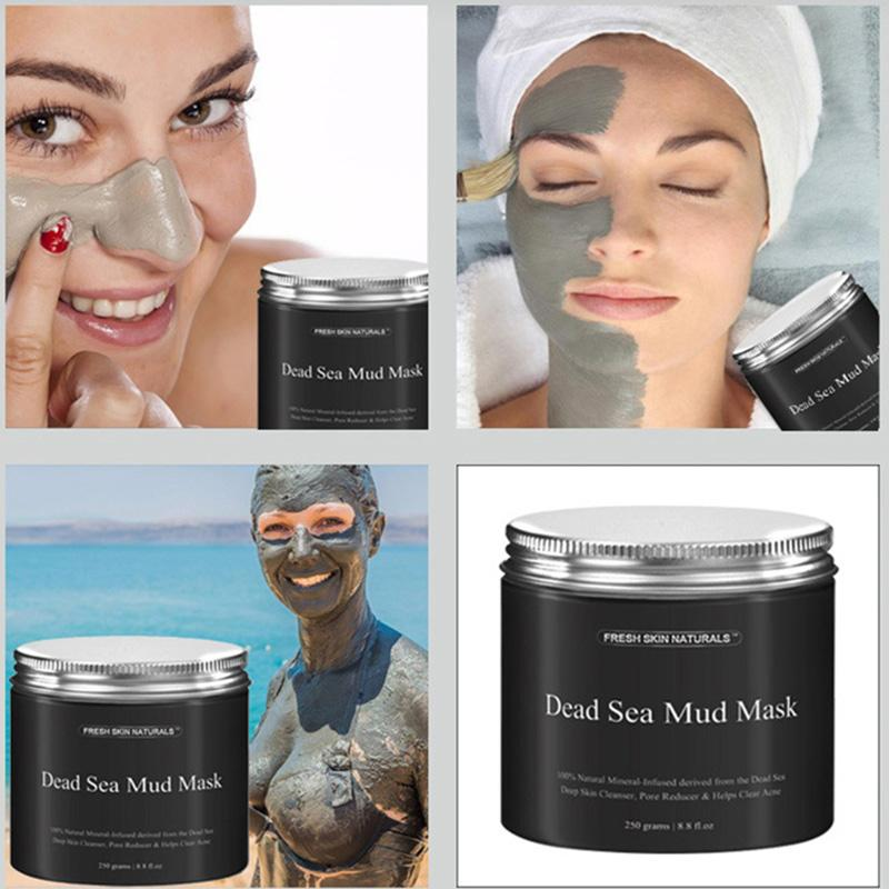 Dead Sea Mud Mask Anti Acne Deep skin Cleanser Pore Reducer Natural Mineral-Infused Detoxifier Packed With Vitanins to promote youthf3006012