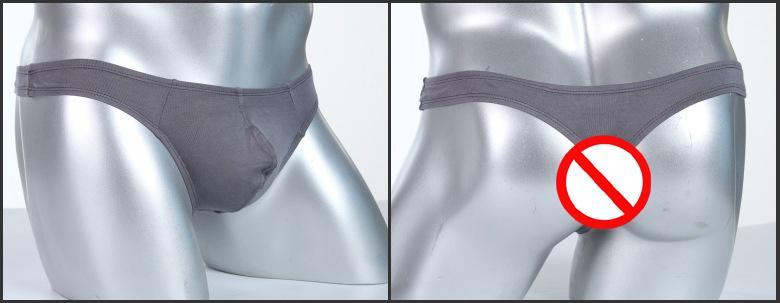 Slip homme mini soie bikini Briefs Hipster pochette à pénis lanières g strings tangas T culotte dos unie couleur unie taille basse lingerie gay