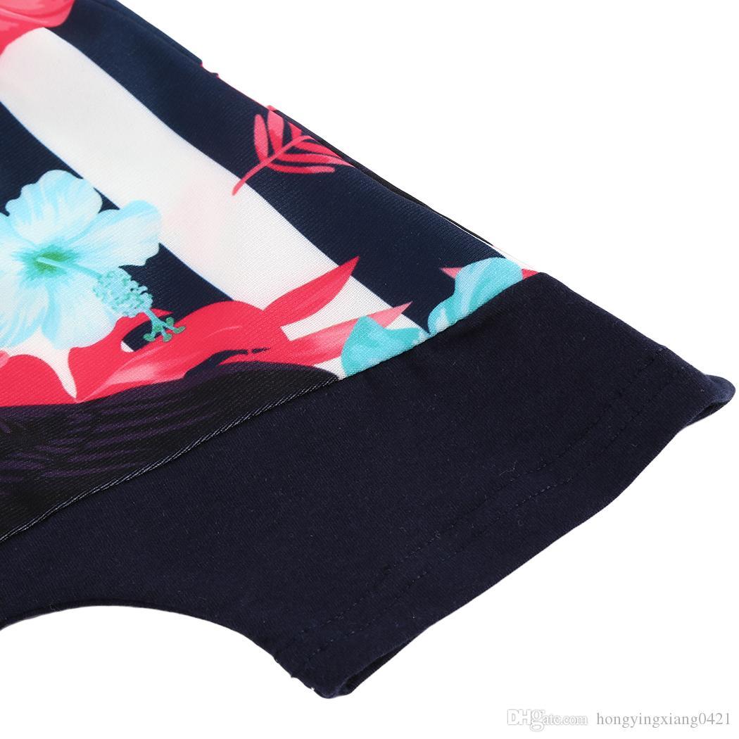 2018 Fashion Summer Toddler Outfits Set Bambini Baby Boy Floral con cappuccio Bianco Top T-shirt Vest + Floral Pantaloni corti Vestiti del bambino Set