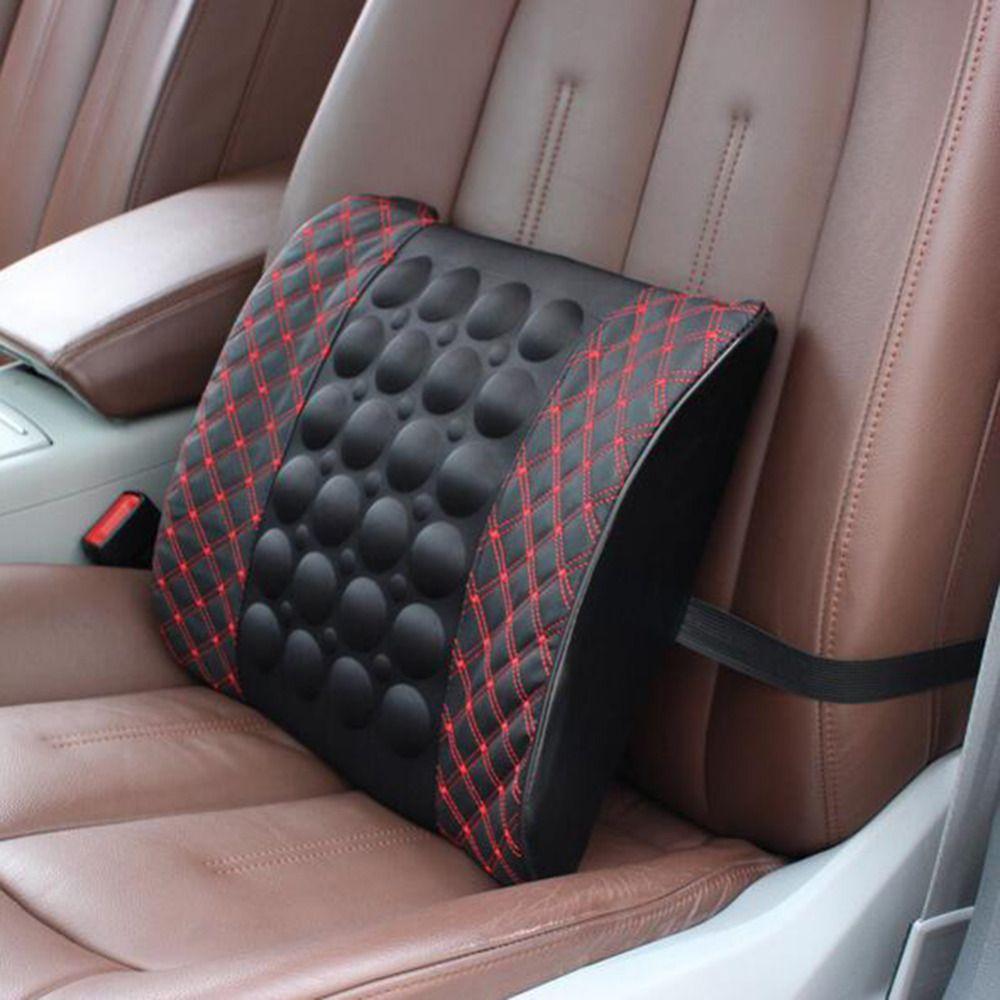 Electric Massage Lumbar Cushion For Car Memory Foam Office Seat ...