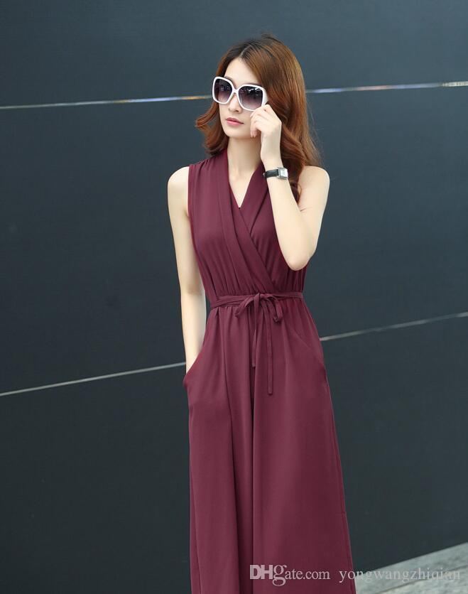 Han edition of female 2017 yards long summer dress show thin chiffon dress temperament of cultivate one's morality beach skirts in summer