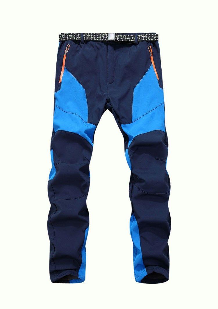 Wholesale-Winter Men Warm Softshell Fleece Pants Skiing Snowboard Outdoor Sport Hiking Trousers Grey Camping Climbing Breath Snow Pants