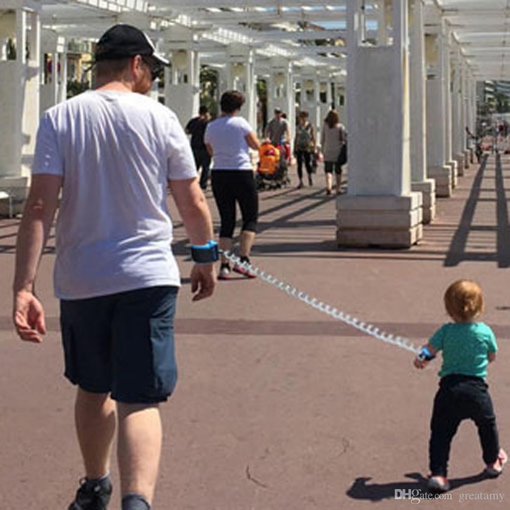 Toddler Baby Kids Arnés de seguridad Corta continuamente Correa para niños Anti Lost Enlace de muñeca Cuerda de tracción Locktraction