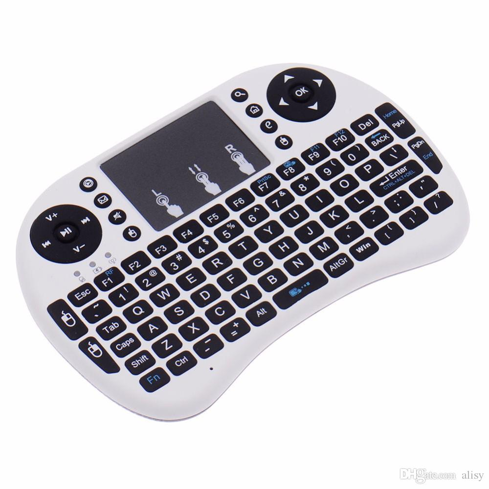 Wireless Rii I8 Fly Air Mouse Keyboard Remote Rechargeable lithium-ion battery 2.4GHz Wireless Remote Control For S905X S912 TV Box X96 T95