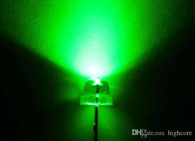 MIX Vermelho / Rosa / Roxo / Azul / Branco LED 5mm Chapéu De Palha LED Diodo