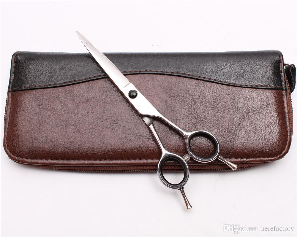 "6"" 17.5cm Japan 440C Customized Logo Professional Human Hair Scissors Barbers' Hairdressing Scissors Cutting Shears Salon Style Tools C1027"