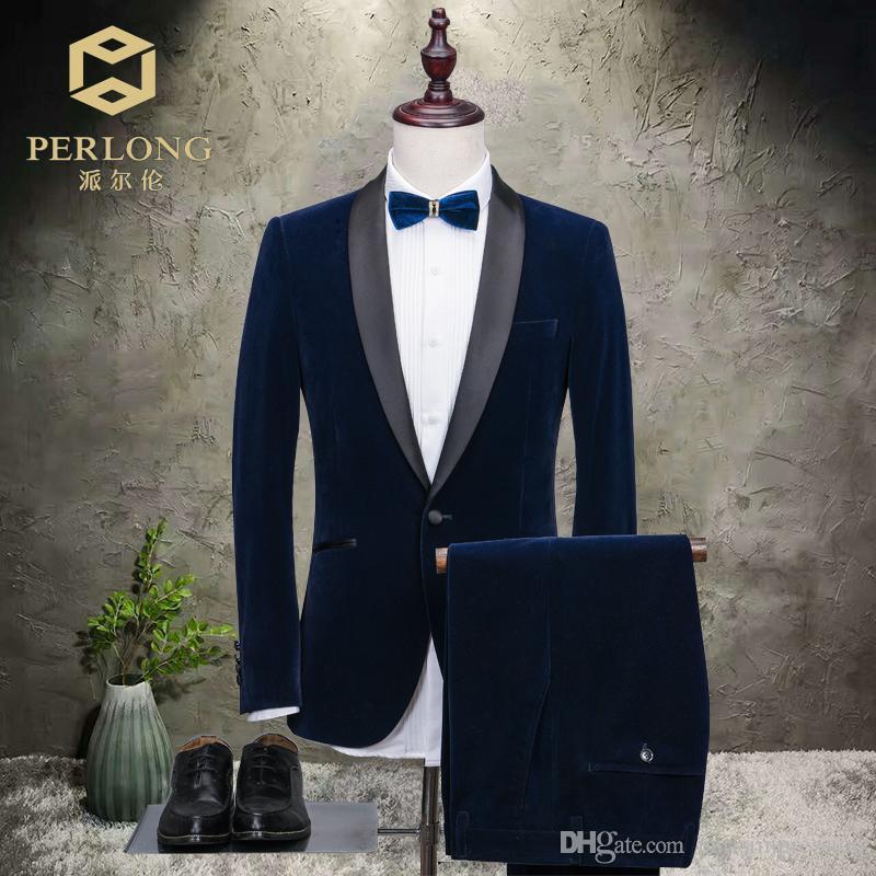 2018 New Blazer Groomsmen Suits Slim Fit Mens Wedding Prom Dinner ...