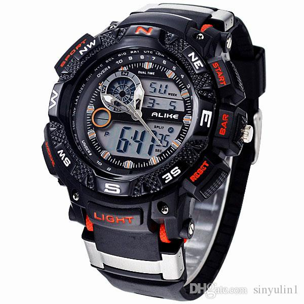 02284d95f1e 2019 New ALIKE Relogio Masculino Waterproof Outdoor Sports G Style Shock  Watches Men Quartz Hours Digital Watch Military LED Wrist Watch Buy Cheap  Watches ...