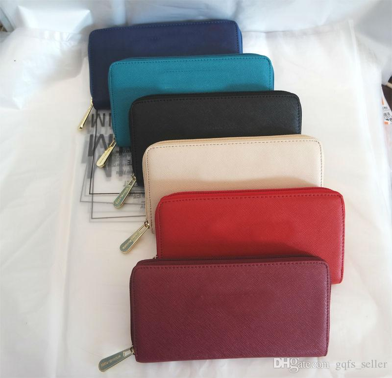 Tasarımcı cüzdan lüks cüzdan bayan cüzdan cüzdanlar fermuar cüzdan kadın deri çanta telefon cüzdan kredi kartı para cüzdan iphone 7 için
