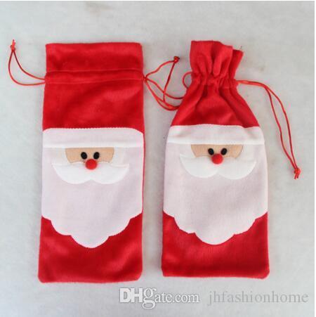 Natale decorare la bottiglia di vino rosso Babbo Natale Regali borsa Champagne bag Festa di Natale Accessori fai-da-te ovunque hotel casa