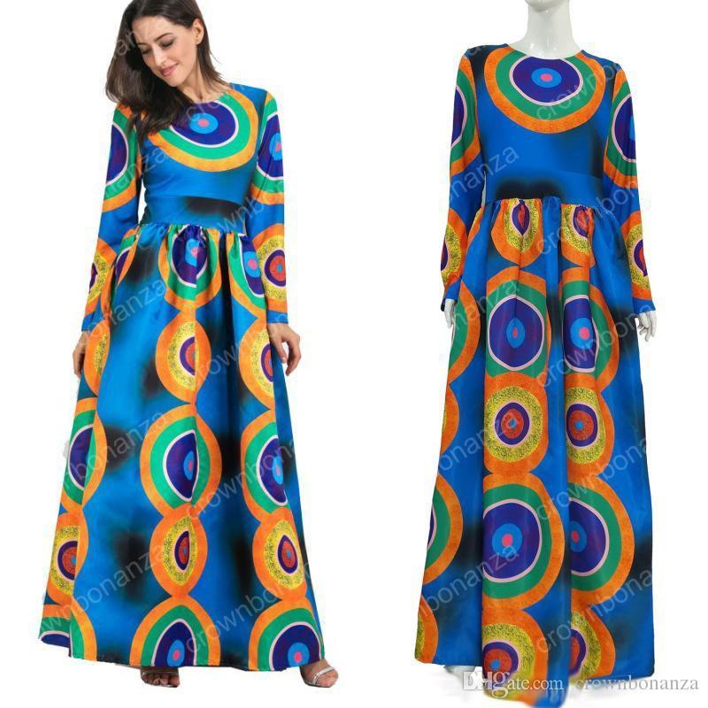 Dashiki vestidos africanos para mujeres Top Bazin africana tradicional privada ropa personalizada una pieza media manga vestido suelto
