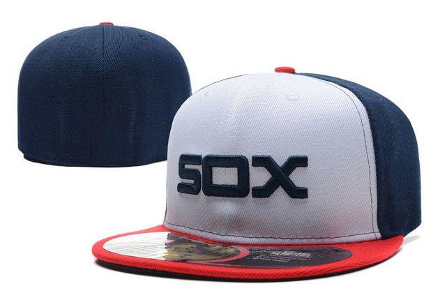Retro Beyaz Sox Beyzbol Şapkası Gorras Ön Takım Sox Logo Sox Gömme Şapka Gorras Fitilleri Terlemek Ter Spor Erkekler Kadınlar Chapeau Caps