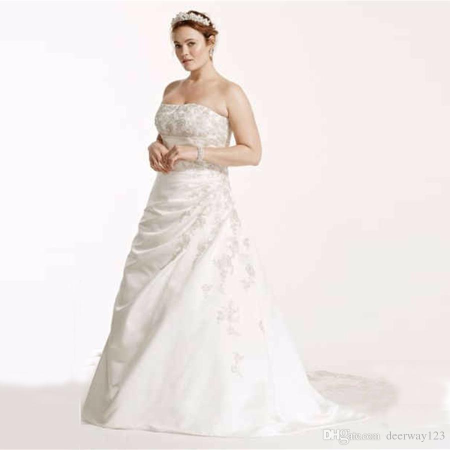 Discount New 2017 A Line Plus Size Wedding Dress With Lace