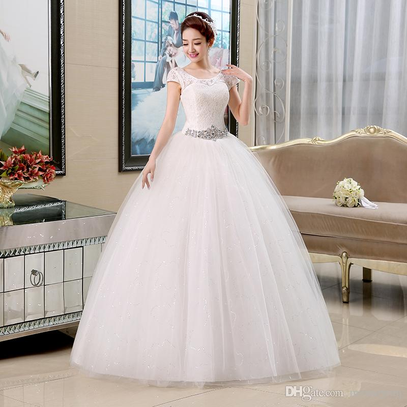 Wedding Dresses New Arrival White Red Wedding Gowns Lace Up Bride ...