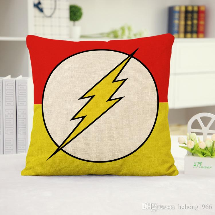 Linen Pillow Case The Avengers Iron Man Pillowslip Marvel Heroes Spider Man Cushion Cover Home Textiles Simple Fashion 6 5ph A R