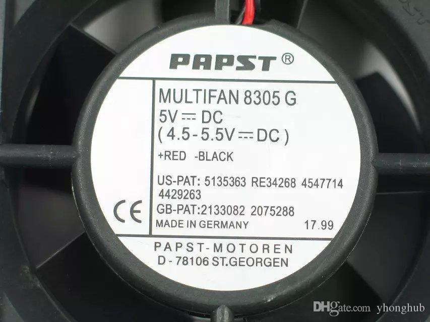 ebmpapst TYP MULTIFAN 8305G, MULTIFAN 8305 G DC 5V Connettore a 3 poli a 3 poli 100mm 80x80x32mm Ventola del server Square